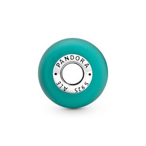 Bilde av Pandora matte green murano glass charm